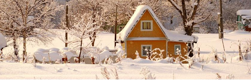 House in winter cropped