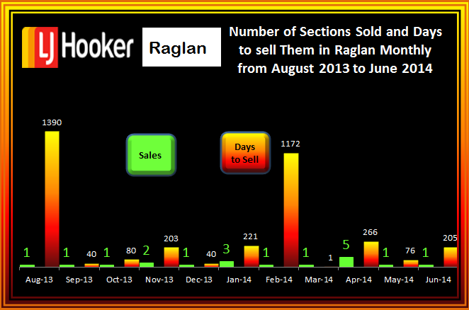 Raglan Section Sales and days to sell Aug - June