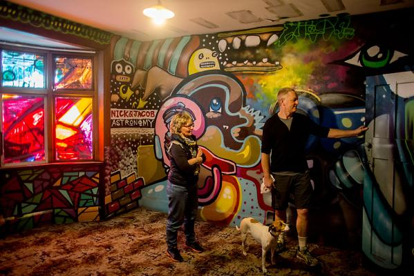 A last hurrah: 38 Cranford Street gets covered in street art before its impending demolition.