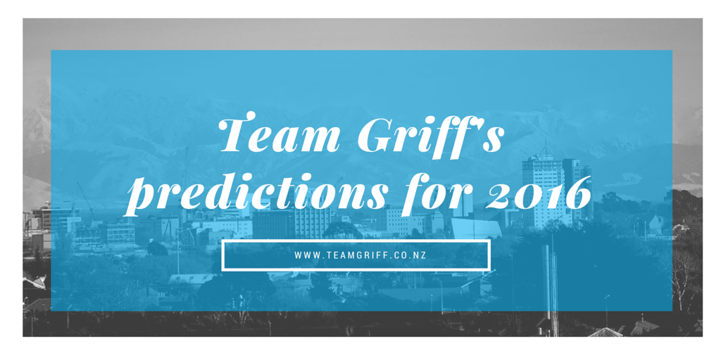 Team Griff's predictions for 2016-1