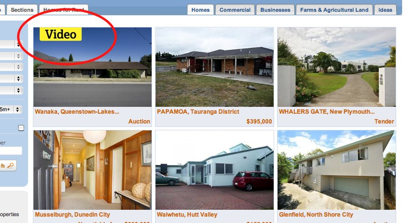 Image of property with video text