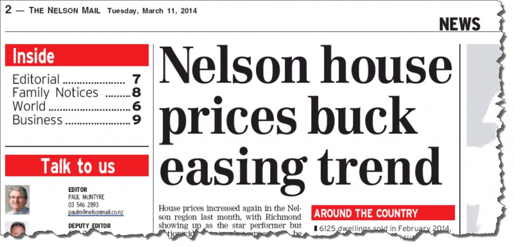 12-03-2014 Nelson house prices buck trend